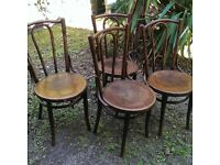 4 x Classic Bentwood Chairs - Good condition for age