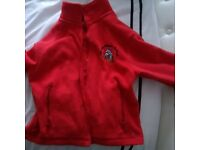 Kids Llysfaen Primary school Red Fleece Jumper / jacket