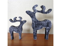 star gazing stag reindeer christmas decorations ornaments hand painted various colours