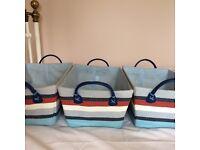 3 Jojo maman Bebe storage baskets