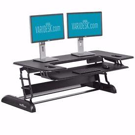 Height-Adjustable Standing Desk - VARIDESK Cube Plus 48 - Black