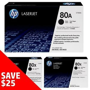 Original HP 80A/X Toner - Buy 2 Direct from HP Save $25 Off