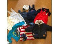 23 items. 0-3 Month Boys Clothes Bundle (Gap/Next)