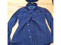 2 x men's checkered shirts