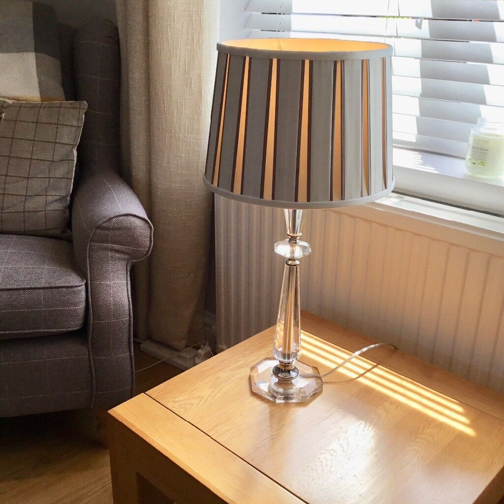 Perspex Table Lamp With Laura Ashley Shade In Stonehaven Aberdeenshire Gumtree