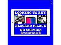Wanted iPhone 7 8 7 Plus 8 Plus X 6s 6s Plus Se New Used Faulty Broken iCloud Pin Locked 07434809572