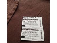 Alton towers tickets x2 22nd July