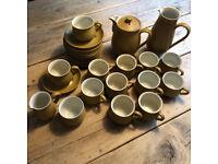 DENBY 'ODE' MUSTARD, VINTAGE TEA AND COFFEE SET