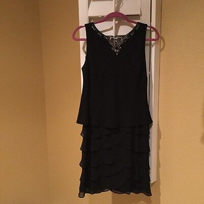 Dillards  Formal  Black Sleeveless Dress  Size Small