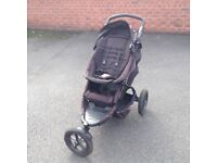 Phil and Teds Double Pram with rain cover and accessories