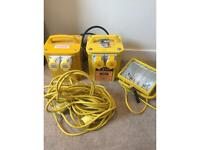110v Transformers, cable and light