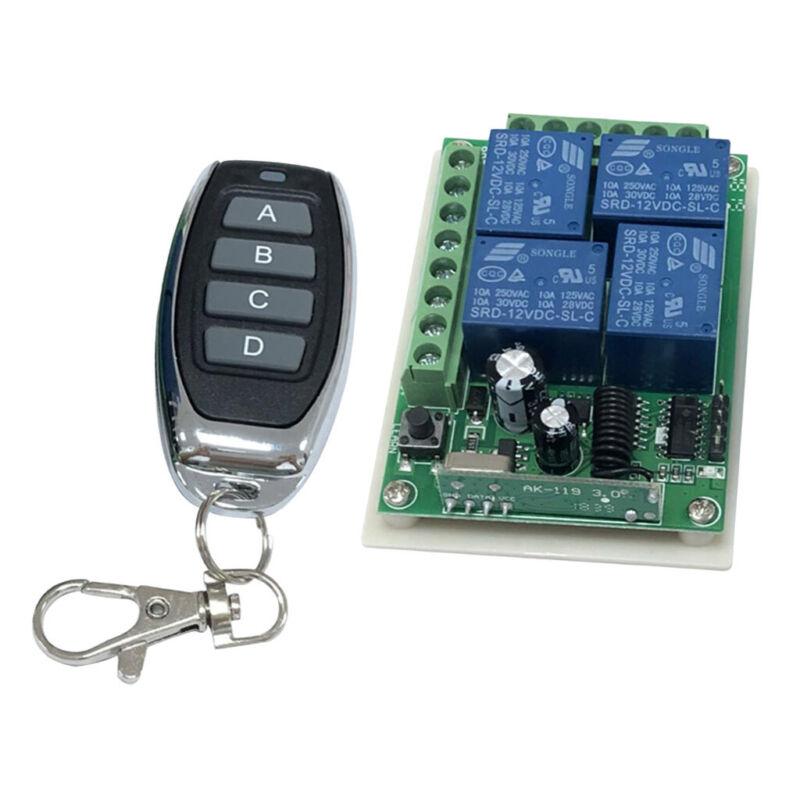12V Cross Type LED Lamp Gate Motor Lamp Switch+Metal Pepper Four-key 433 MHz