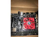 QUAD CORE AMD X4 845 3.8 GHZ cpu , 8 gb DDR3 1600 MHz RAM, ASUS A68BHM-K motherboard