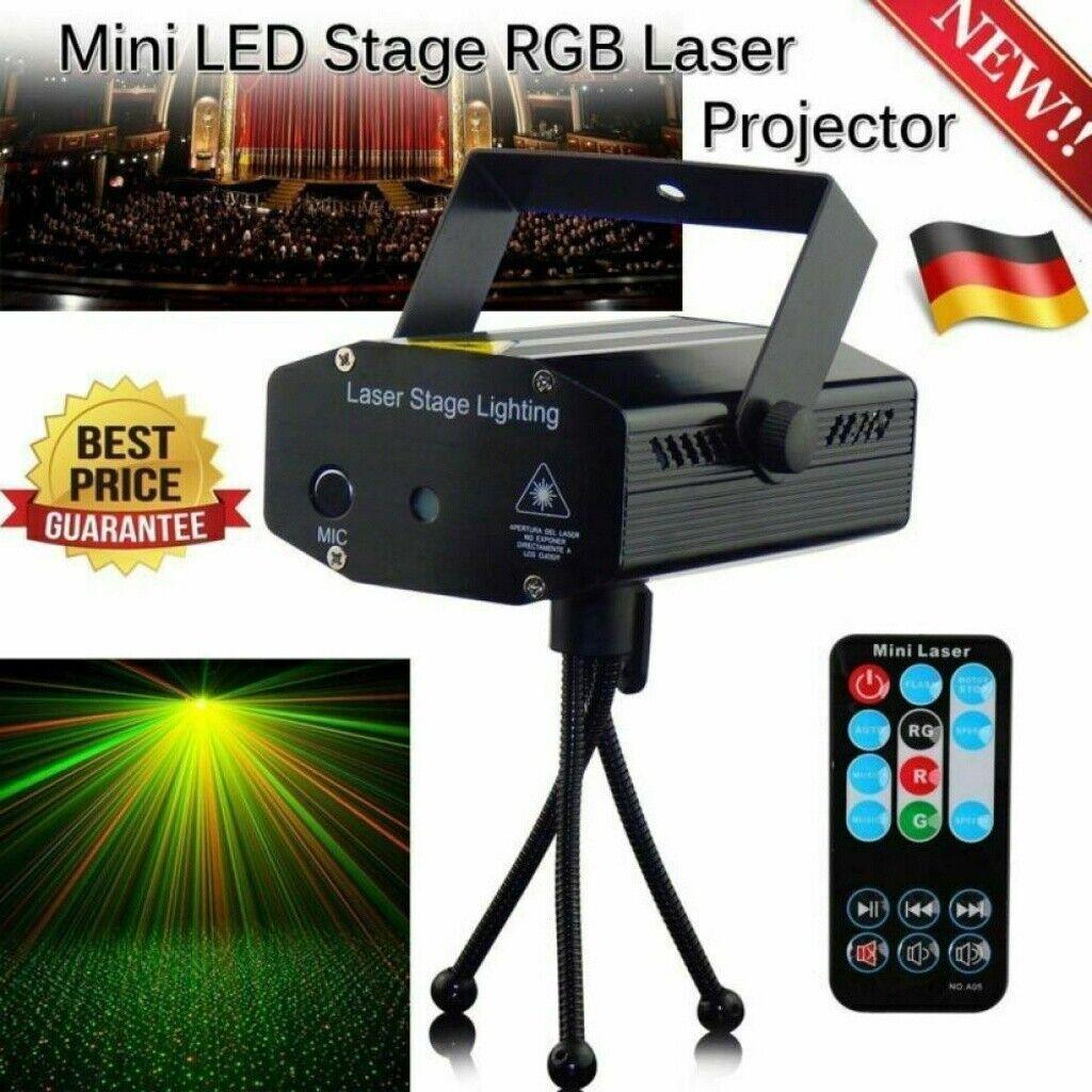 Disco Muster Laser Magic RGB DJ Party lichtorgel Bühnenbeleuchtung Projektor