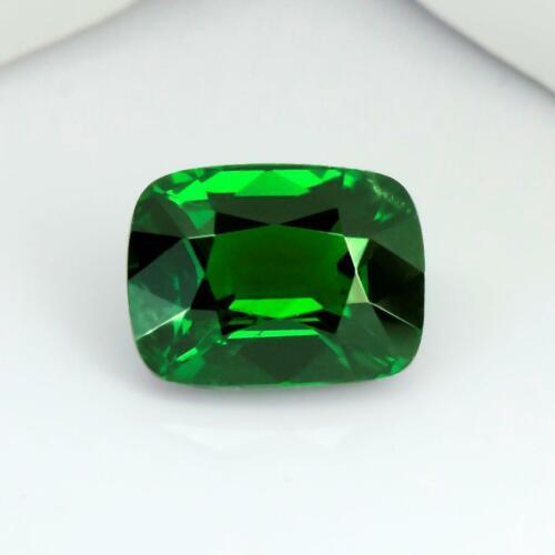 Big 4.09Carat Rare Vivid Green Color Cushion Shape Certified TanzanianTsavorite