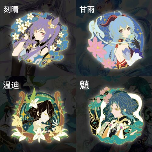Genshin Impact Venti Keqing Xiao Badge Brooch Pin Collection Cosplay Xmas Gift