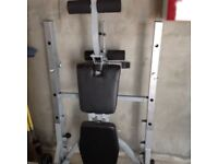 York weight bench with bar and 20 kg weights as new condition £70 tel 07895137272
