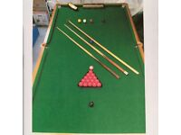 Handmade snooker table; solid wood folding legs. 8ft 6 X 4ft 8. Quality product; excellent condition