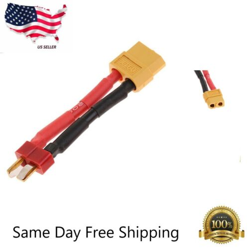 XT60 Female to Deans T-Plug Male Adapter Connector Cable for Lipo Battery 14AWG