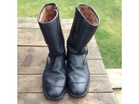 A pair of black leather Cambrelle Sportex motorcycle boots size 11 (Eu 45)