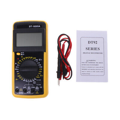 Digital Dt-9205a Multimeter Lcd Acdc Ammeter Resistance Capacitance Tester New