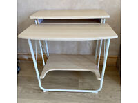 Maple and White Stow Away Desk 70cm x 60cm x 76cm