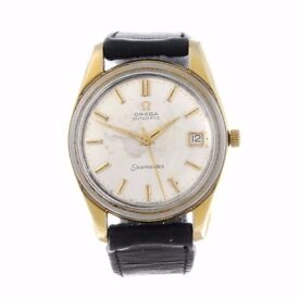 OMEGA - a gentleman's Seamaster wrist watch. Gold plated case with stainless steel case back