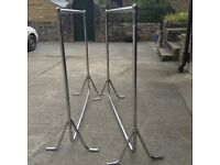 Heavy weight chrome rails,great for car boot clothes,large X 2