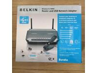 Belkin wireless G router and USB network adapter