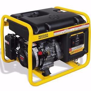 Wacker Neuson 2500W Portable Generator (GP 2500) w / warranty $499.89