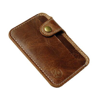 Männer Vintage Geldscheinklammer Schlank Brieftasche ID Kreditkarteninhaber