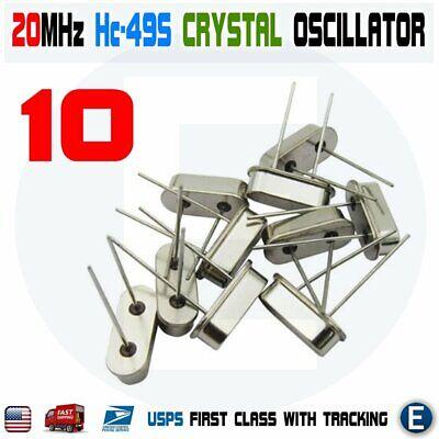 10pcs 20mhz 20.000 Hz Hc-49s Crystal Oscillator Quartz Passive Arduino Raspberry