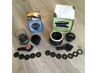 Lensbaby Composer Double Glass Optic Lens+ Fisheye Optic - New condition - Nikon fit