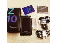 BRAND NEW BLACKBERRY Z10 IN BLACK 16GB UNLOCKED TO ALL NETWORK BOXED WITH ACCESSORIES.