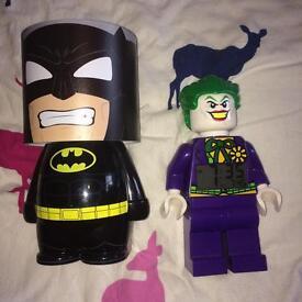 Batman light and joker alarm clock