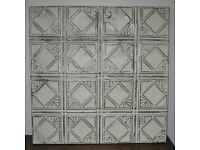 Original Vintage Art Deco American Tin Ceiling Tile
