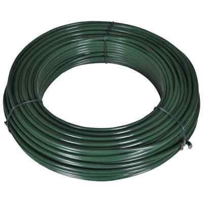 Vidaxl Fence Span Wire 262.5 Steel Green Fancing Barrier Gate Wire Mesh Line