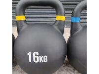 Cast Iron 16kg Kettlebells. UK, NI & ROI