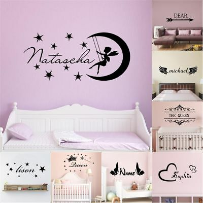 Custom For Kids (Custom Name Wall Sticker For Kids Rooms BedRoom Decor Vinyl Room Decoration)