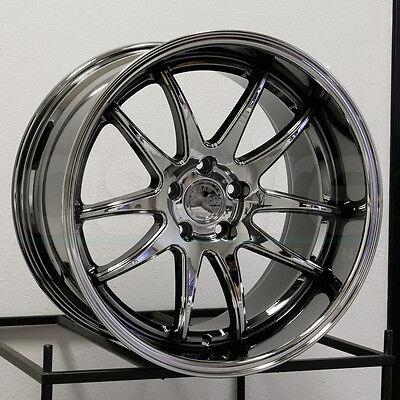 18X10 5 Aodhan Ds2 Ds02 5X114 3 22 Black Vacuum Wheel New Set 4