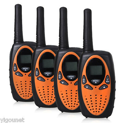 4x Profi PMR Walkie-Talkie Handfunkgerät 2-Way Radio 8 Kanäle bis 5 km Funkgerät