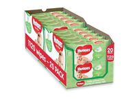 Box of 20 pks of Huggies Natural Care Baby Wipes. With soothing aloe vera & vitamin E