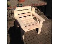 Handmade garden chairs