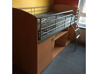 Single cabin bed with mattress can deliver