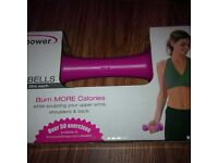 Ladies Pink Fumbbells and other exercise items