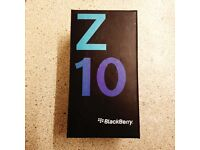 BRAND NEW BLACKBERRY Z10 16GB SMARTPHONE IN BLACK UNLOCKED WITH ALL ACCESSORIES