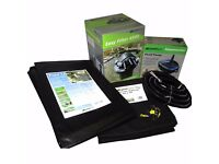 2000 litre Pond Kit - Liner, underlay, filter, pump and pipes included. Ideal for average garden