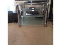 Glass TV Stand- Chrome