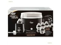 tommee tippee steam steriliser with bottle warmer and thermal bottle holders -£15