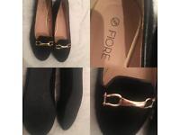 Fiore black pumps size 5